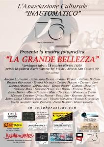 """Mostra Fotografica """"LA GRANDE BELLEZZA"""""""