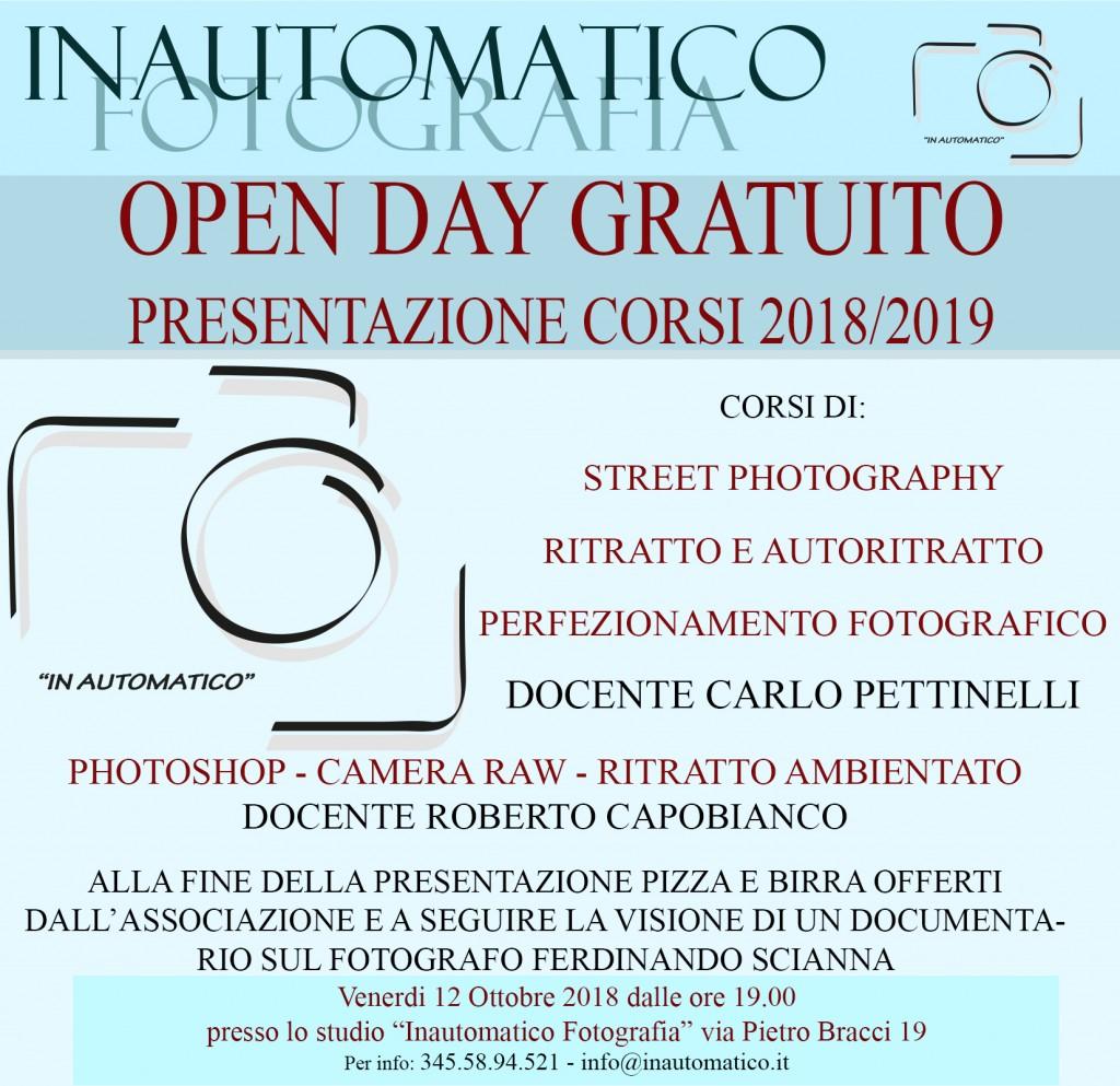 Open Day gratuito e circolo fotografico