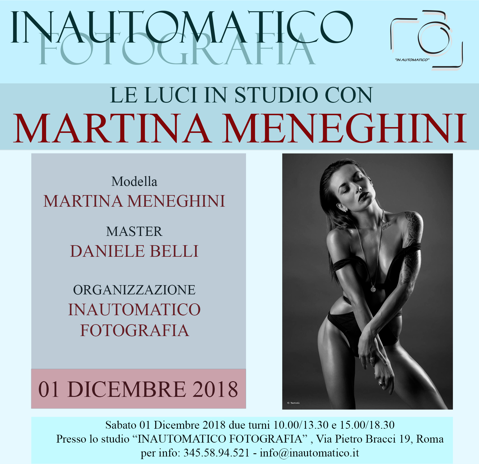 Le luci in studio con Martina Meneghini