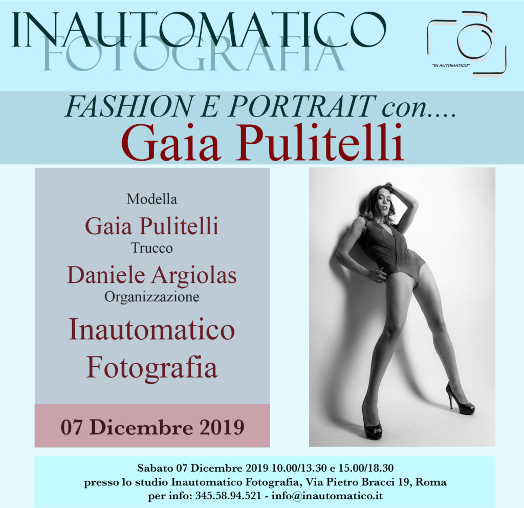 Fashion e portrait con Gaia Pulitelli