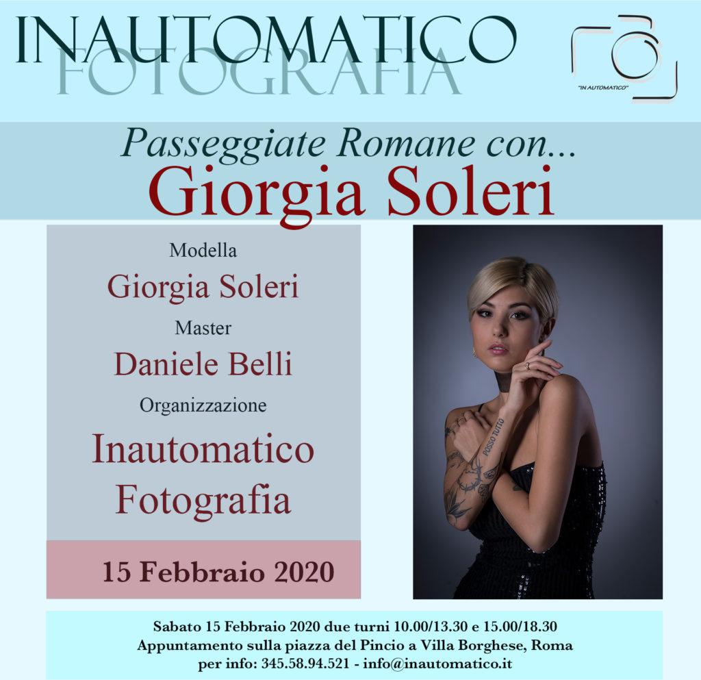 Passeggiate romane con Giorgia Soleri
